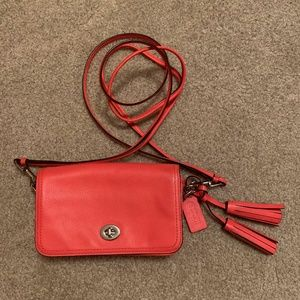 Coach Cross-Body Purse in Coral